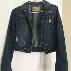 Ripped jean jacket: only worn ONCE.
